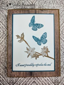 Simple Stamping Butterfly Wishes