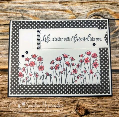Avid Crafter Poppy Card