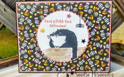 Purr-fect Halloween Card! Luv 2 Stamp Blog Hop!