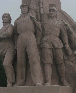 Statue ot socialist workers and soldier