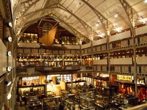 ground floor and upper galleries of Pitt Rivers Museum