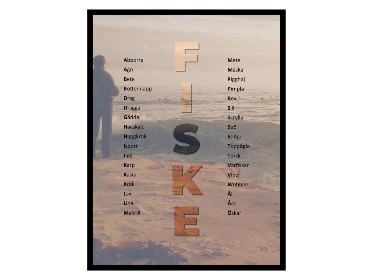 Fiske tavla poster