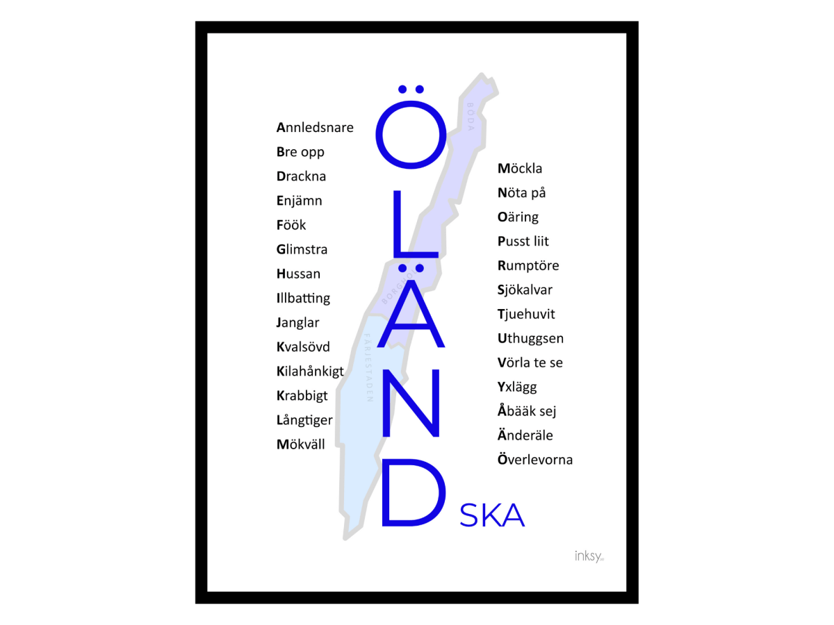 Öländska öland dialekt poster