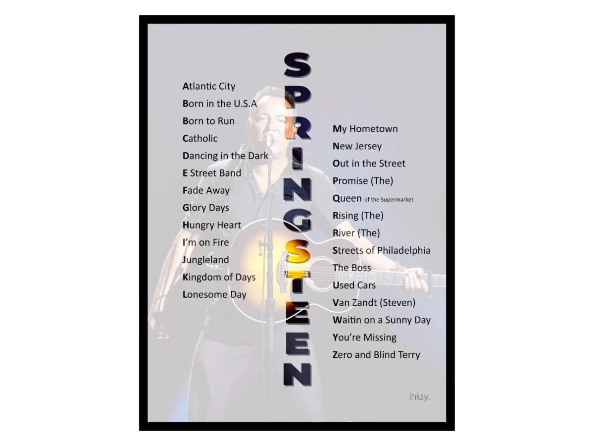 Bruce Springsteen poster tavla