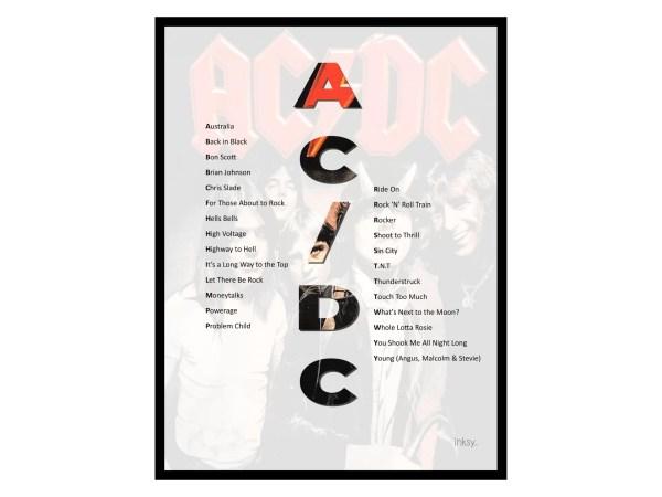 AC/DC tavla poster