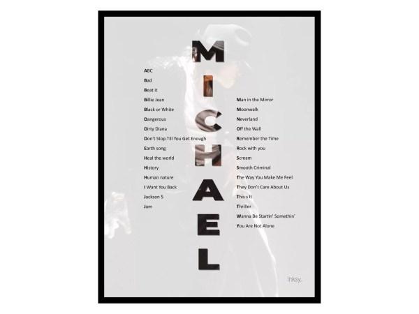 Michael Jackson tavla poster