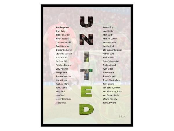 Man United legender tavla poster