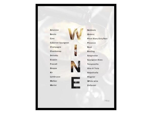 Wine vin tavla poster