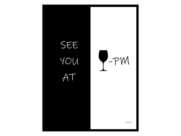 See you at wine pm poster tavla