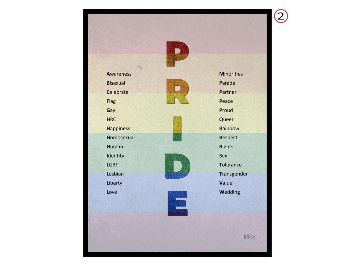Pride tavla poster gay lesbian bisexual LGBT