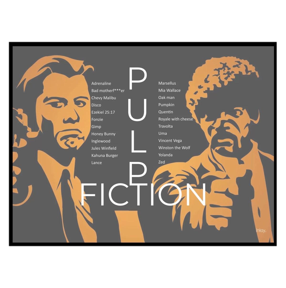 Pulp Fiction tavla poster