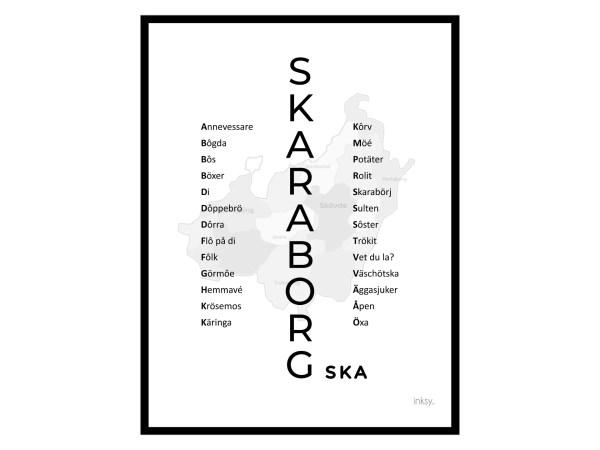 skaraborg skövde lidköping dialekt tavla poster