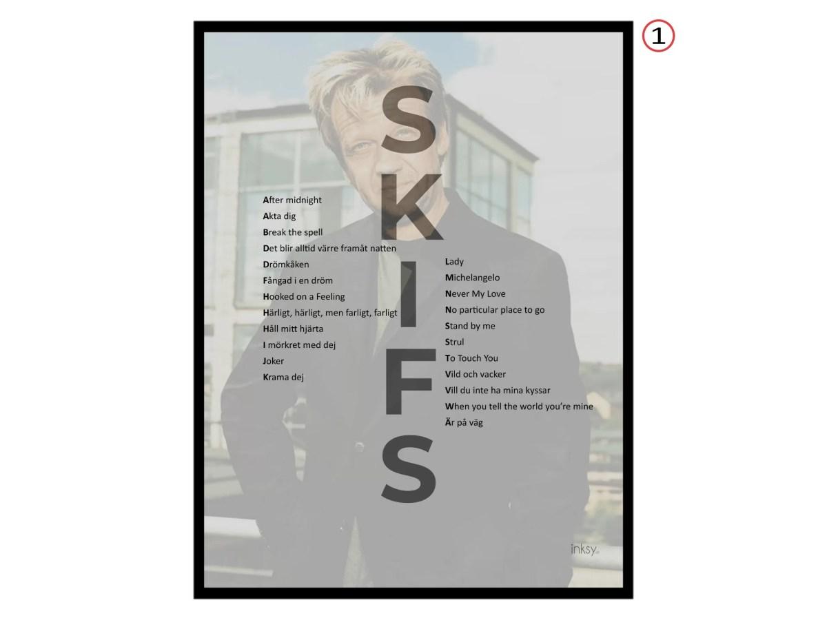 Björn Skifs tavla poster