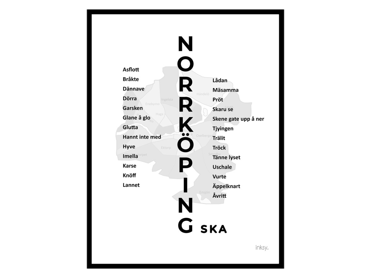 Norrköping Norrköpingska dialekt tavla poster