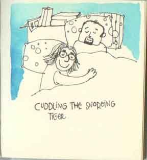 cuddle the snoring tiger
