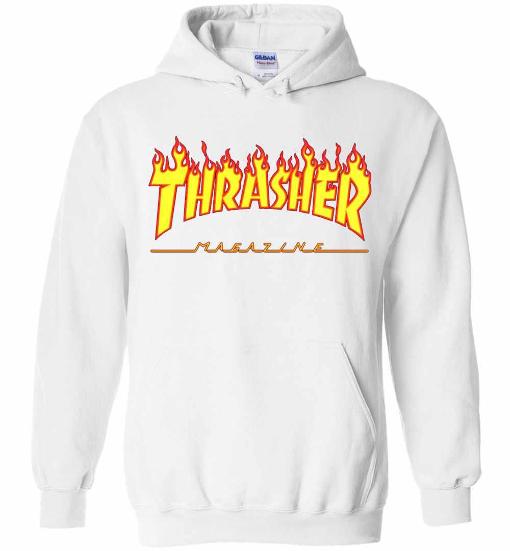 ae325a36eba2 Thrasher Magazine Awesome Flaming Skater Design Hoodies Amazon Best Seller