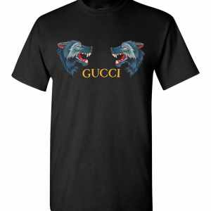 Gucci Wolf Head Appliqués Men's T-Shirt