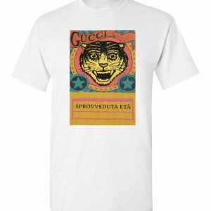 Gucci Tiger  Sprovveduta Età De Rerum Natura Men's T-Shirt