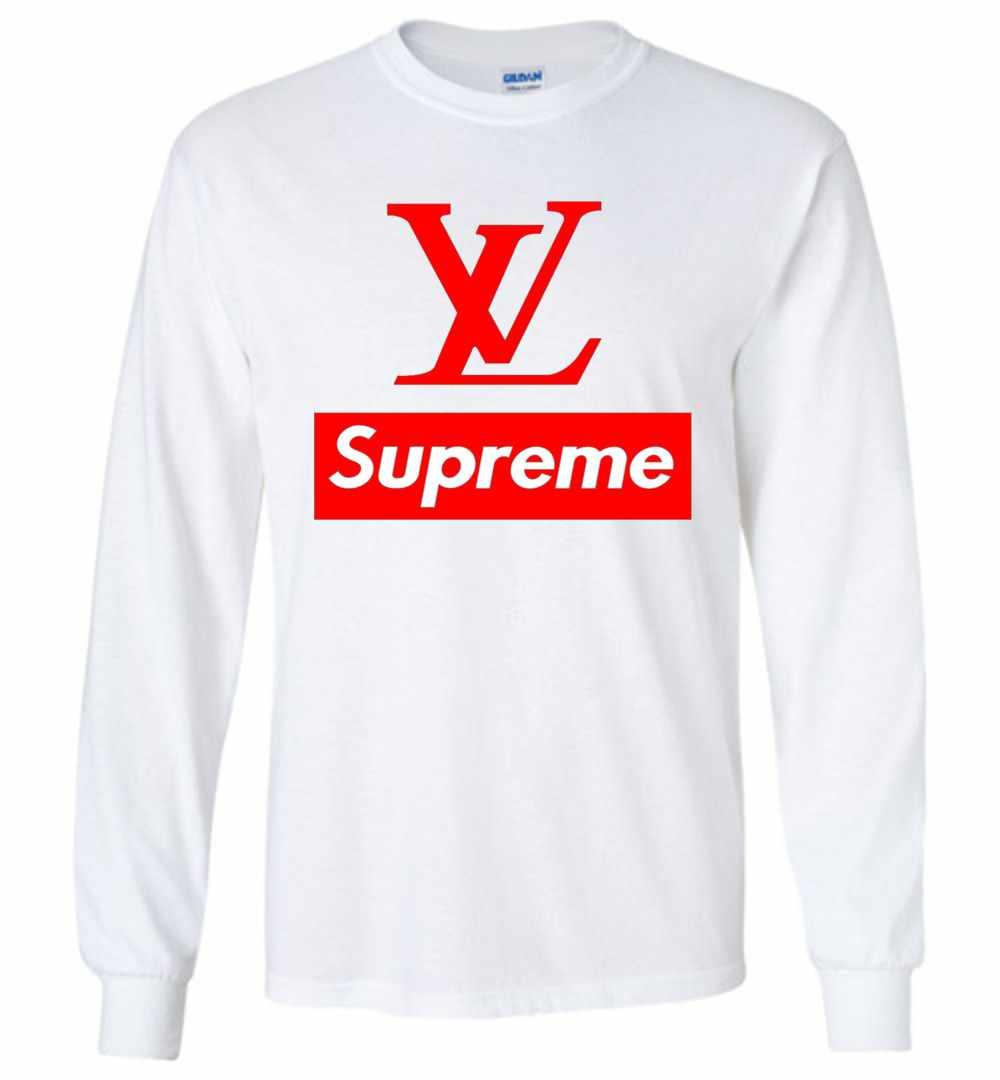 3e147891 Supreme Louis Vuitton Long Sleeve Shirts. Louis Vuitton Supreme Logo Long  Sleeve T-Shirt