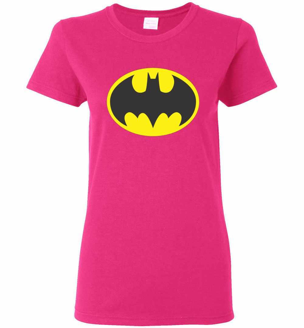 Batman Symbol Bat Oval Logo Womens T Shirt