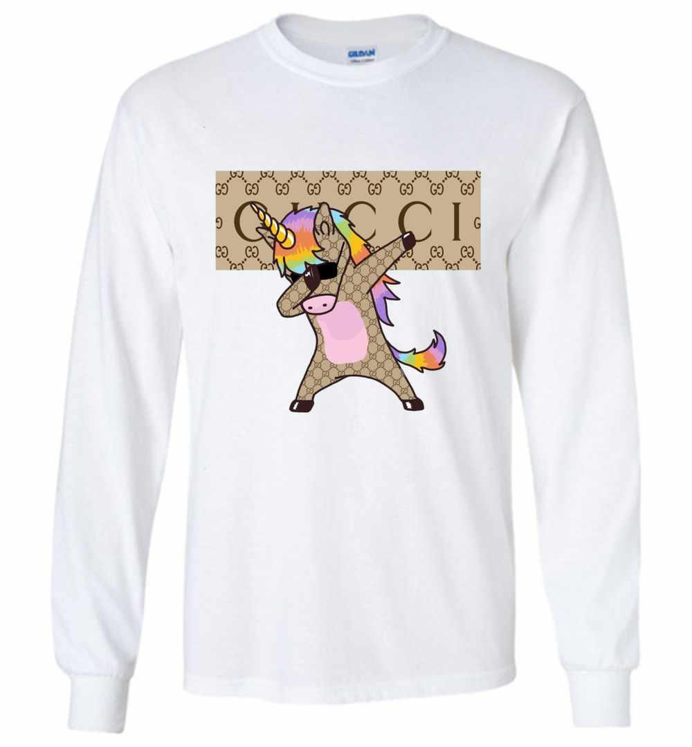 aeeebeea629 Unicorn Gucci Dabbing Long Sleeve T Shirt Amazon Best Seller