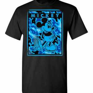Disney Blue Camo Mickey Mouse Nation Men's T-Shirt