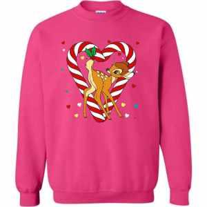 disney bambi candy cane christmas sweatshirt amazon best seller