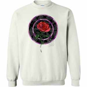 Disney Beauty  The Beast Glass Stained Rose Graphic Sweatshirt