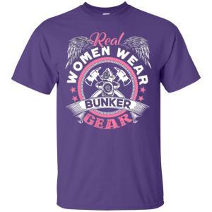 Firefighter Women Wear Bunker Gear Men's T-Shirt