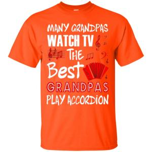 Many Grandpas Watch Tv Best Play Accordion Music Men's T-Shirt