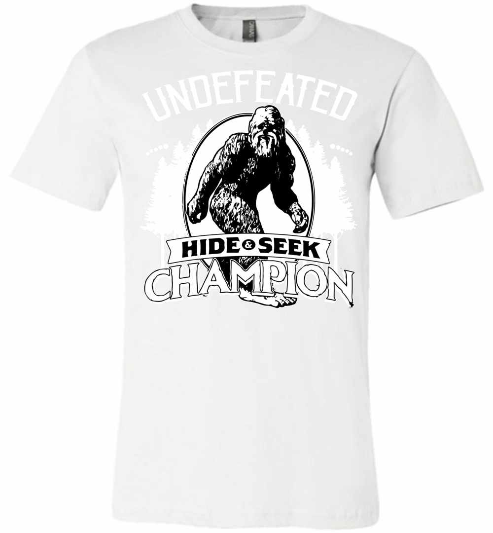 Bigfoot Undefeated Hide And Seek Champion Premium T Shirt