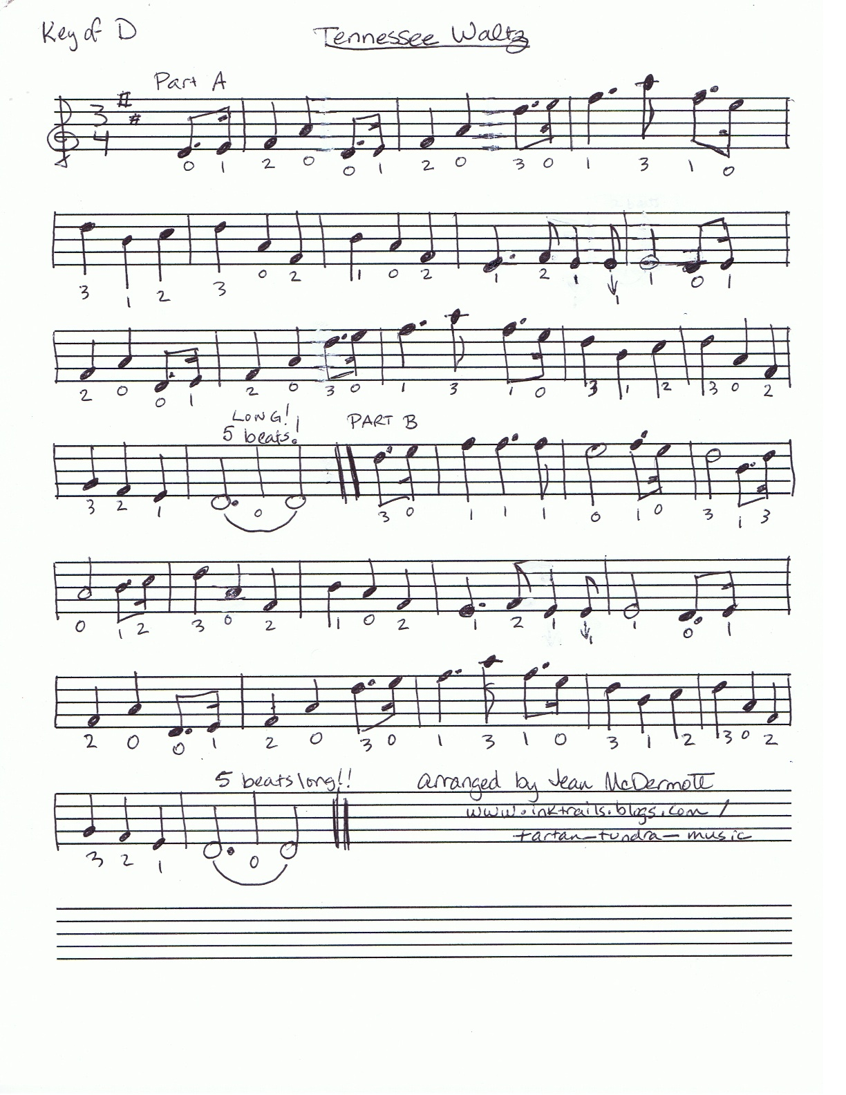 Sheet Music From Tartan Tundra Tunes And Songs To