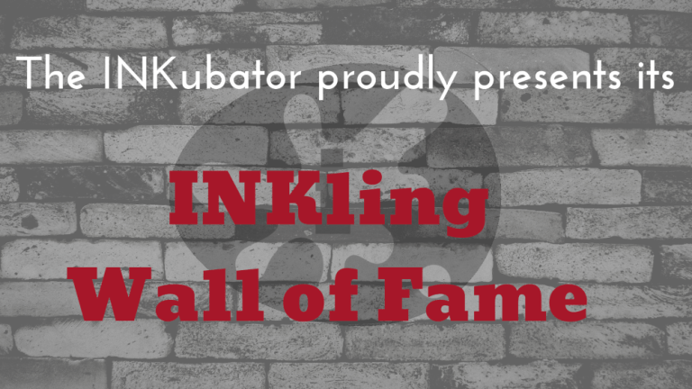 INKling Wall of Fame. INK logo and text on a brick wall.