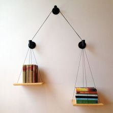 Black Balance Bookcase