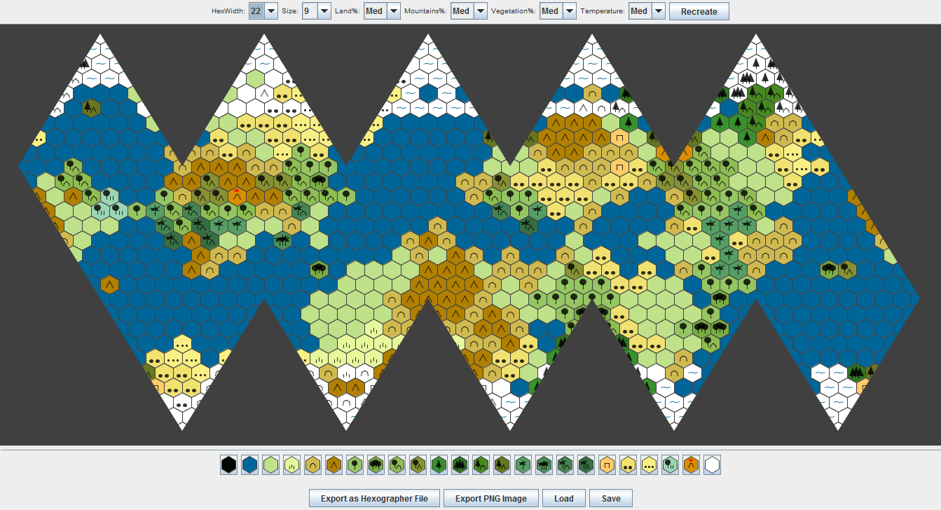 icosahedral world map generator