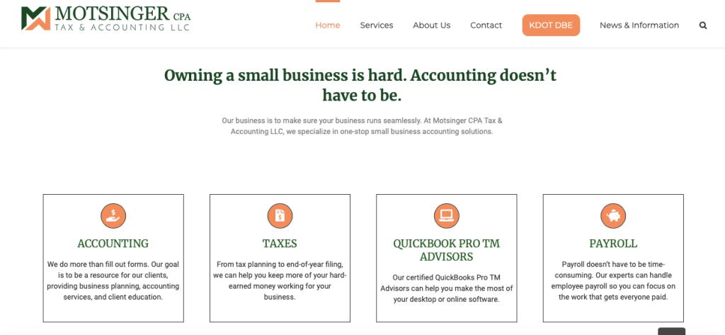 motsingercpa.com home page