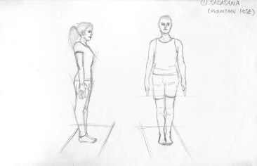 Tadasana - Pencil Sketch