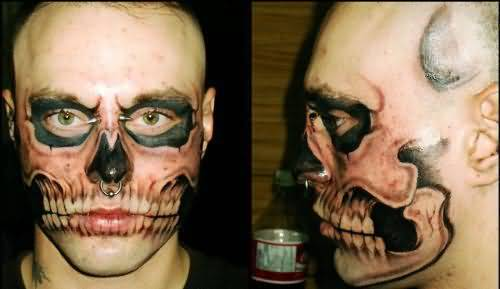 couple-ghost-face-tattoo