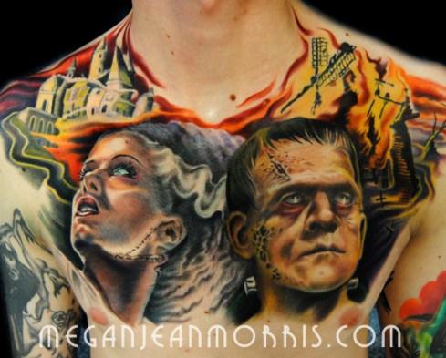frankenstein_and_bride_chest_tattoo_megan_jean_morris_LG96