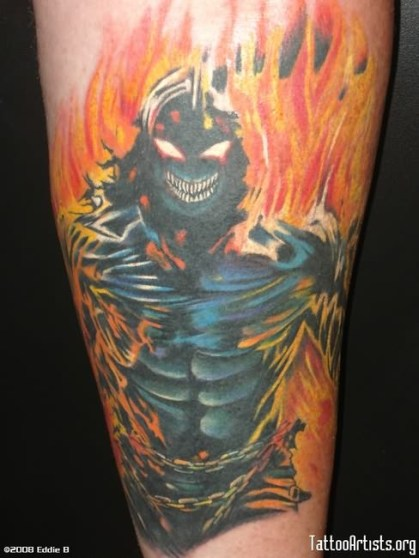 scary-ghost-tattoo-flame