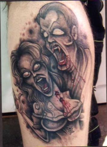 vampire-tattoo-black-white