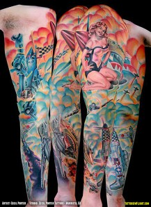 World War II Wonder: Colorful WWII Warbird Aircraft Sleeve Tattoo - Tattoos In Flight: Aviation, Airplane & Flying Related Tattoo Blog