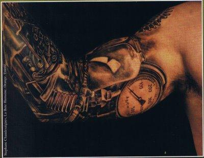 3D Tattoo dark_biomech_elbow_1_of_2