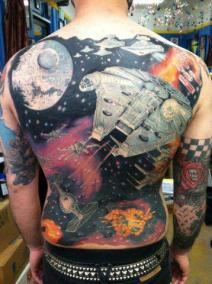 Geek Tattoos - Star Wars Backpiece Tattoo