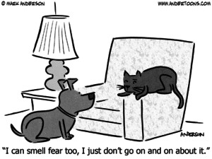 """""""I can smell fear too, I just don't go on about it."""" Exaggeration is all about understatement and overstatement."""