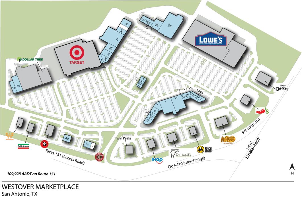 San Antonio Tx Westover Marketplace I  Retail Space