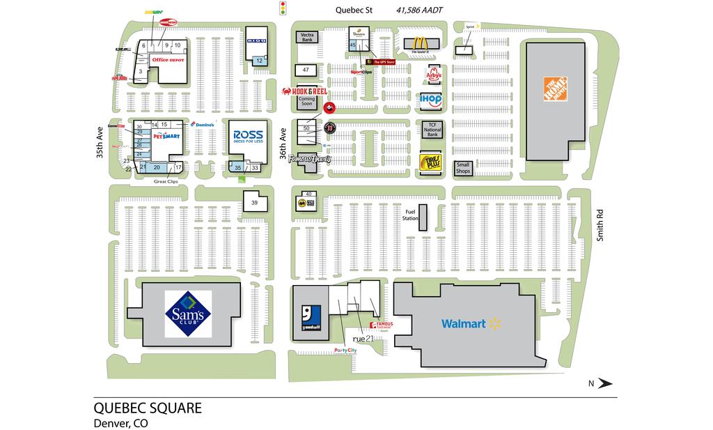 Denver Co Quebec Square  Retail Space  Inventrust