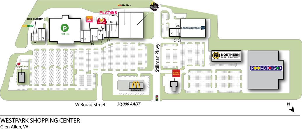 Glen Allen Va Westpark Shopping Center  Retail Space