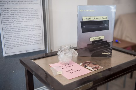 Works by Chloe Spicer at the festival library curated by Medium Rare - photo credit A.Tixiliski