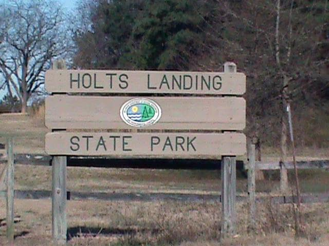 Fig 7, Entrance to Holts Landing State Park (photo by Dottie LeCates)  These meetings followed monthly.  March - Attended the first meeting of the Delaware Seashore Preservation Foundation (DSPF). They are an umbrella fund raising arm of (DSSP).